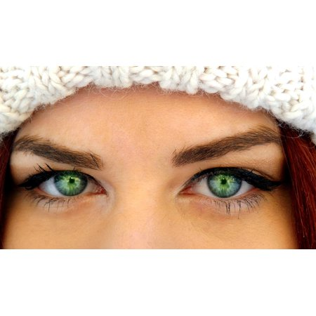 LAMINATED POSTER Gene Makeup Beauty Iris Seductive Green Eyes Poster Print 11 x 17 - Eyes Light Up