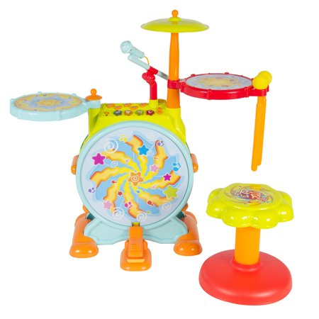 Best Best Choice Products Kids Electronic Toy Drum Set with Adjustable Sing-along Microphone and Stool deal