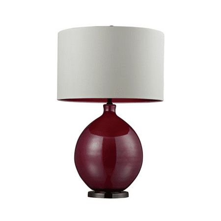 Table Lamps 1 Light With Pink And Black Nickel Gl Steel Medium Base 30 Inch