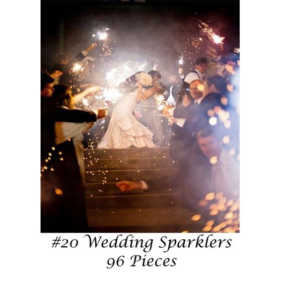 20 Wedding Sparklers 96 Count