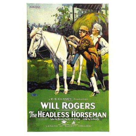 The Headless Horseman (1922) Laminated Movie Stretched Canvas 10 x 14](Halloween Inflatable Headless Horseman Carriage)