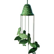Coastal Bird Pelican Wind Chime 12 Inch Garden Decor