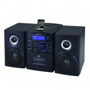 Supersonic MP3/CD Player with iPod Docking, USB/SD/AUX Inputs, Cassette Recorder & AM/FM