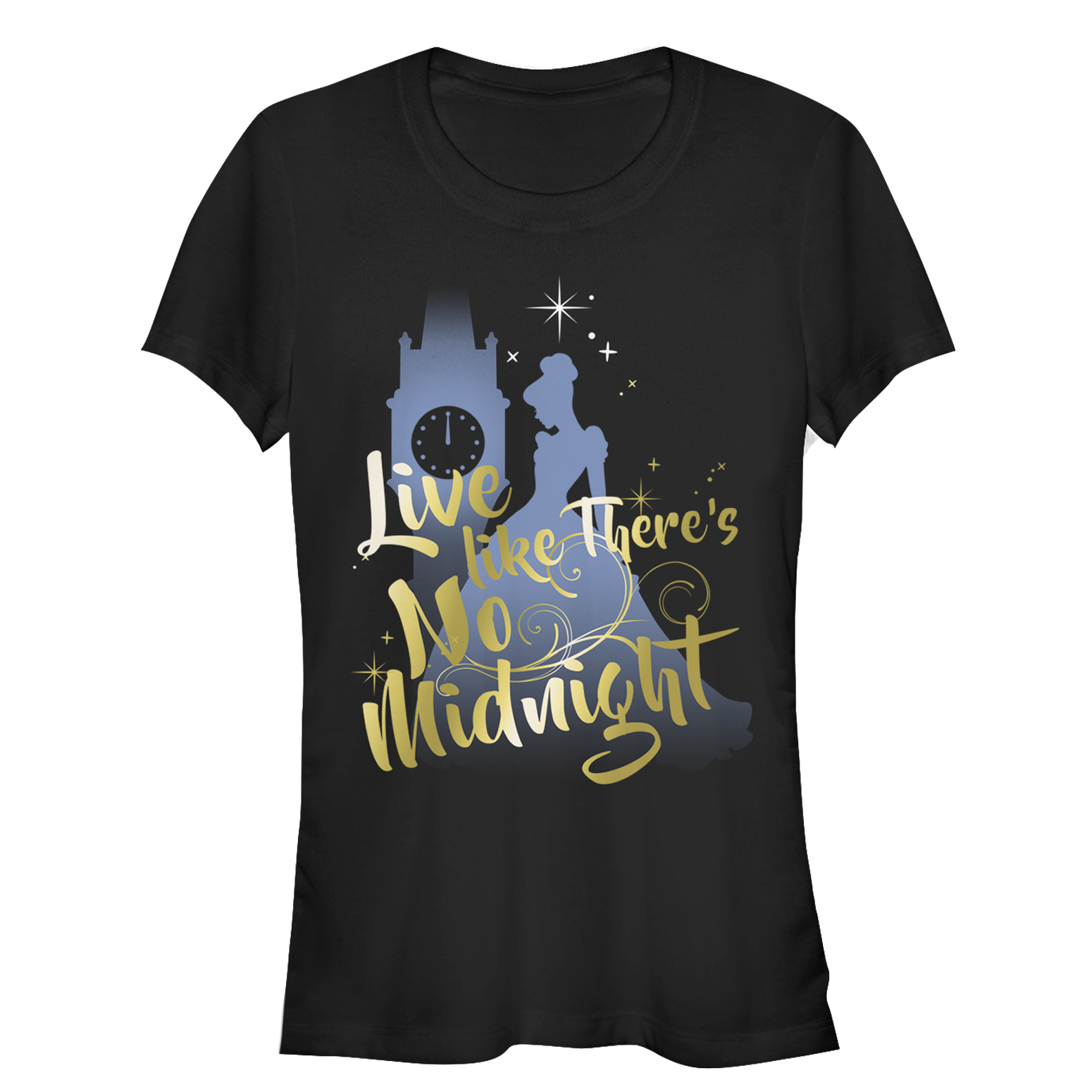 Cinderella Juniors' Live Like No Midnight T-Shirt
