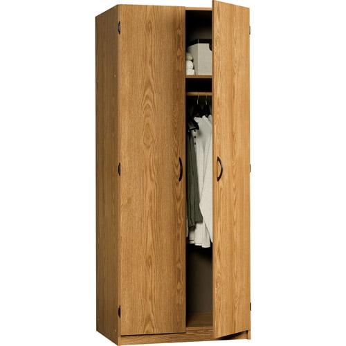 Sauder Beginnings Wardrobe / Storage Cabinet, Oregon Oak