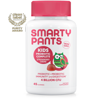 SmartyPants Kids Probiotic Complete Gummies, Strawberry Creme, 45 ct