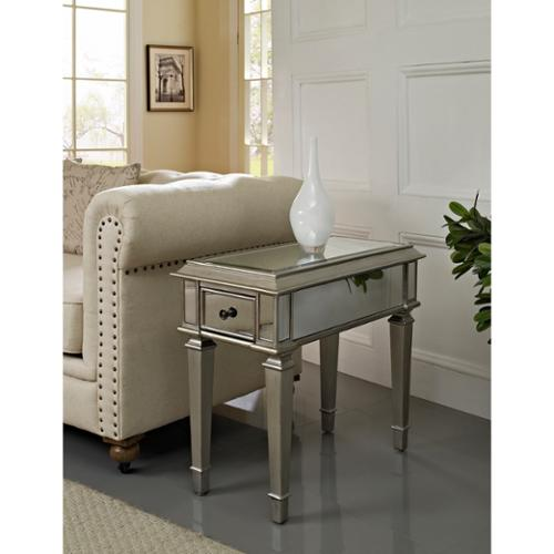 oh home bethany mirrored side table