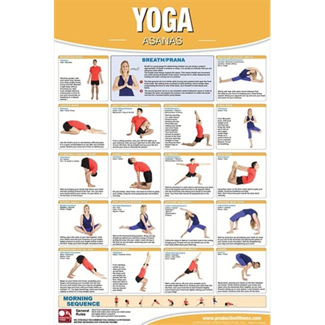 Productive Fitness CYP Yoga Asanas - Paper