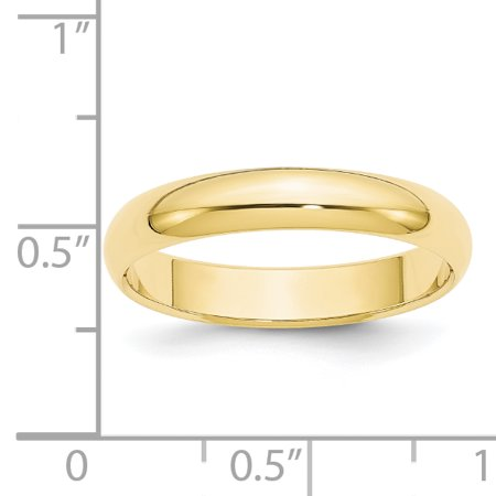 10K Yellow Gold 4mm Half Round Band Size 5 - image 2 of 3