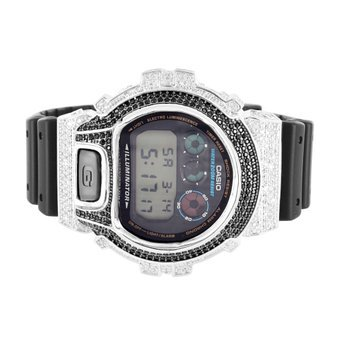 Mens Illuminator Iced Out Dw6900 G Shock Silicon Band Watch Sale