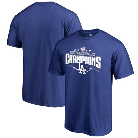 Halloween Clubs Los Angeles 2017 (Los Angeles Dodgers Fanatics Branded 2017 NL West Division Champions Assist T-Shirt - Royal -)
