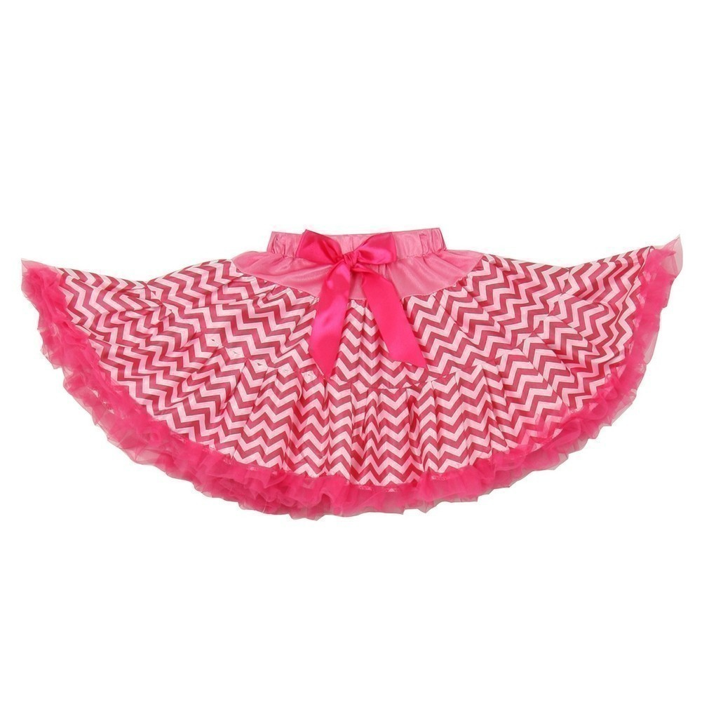 Cinderella Couture Little Girls Fuchsia Chevron Bow Tutu Birthday Skirt 2-6
