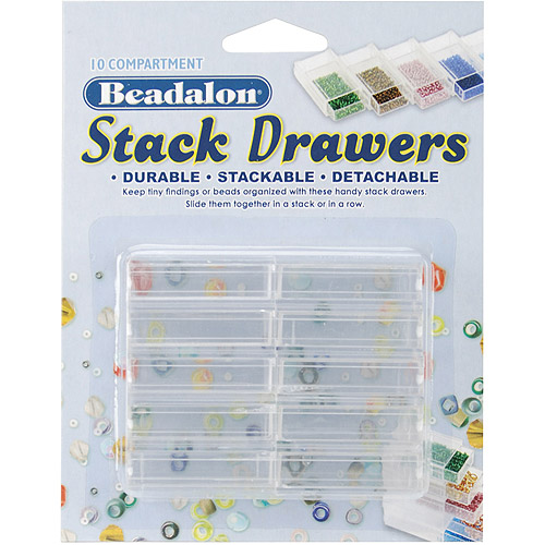 Beadalon Stack Drawers, Clear