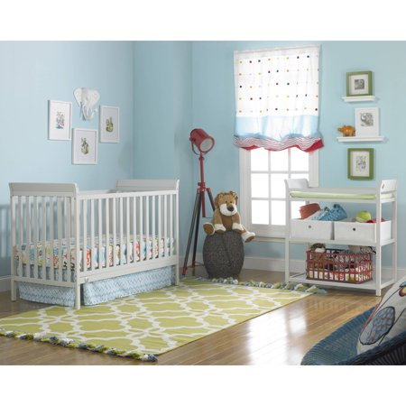 Fisher-Price 3-in-1 Nursery Furniture Set with Mattress Misty Gray