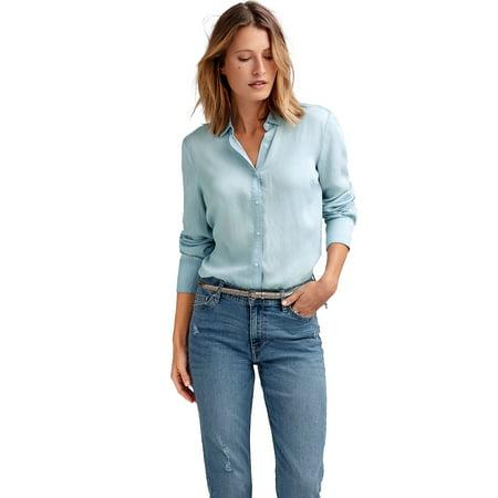 5be41c3ee0a Ellos - Ellos Plus Size Tencel Shirt - Walmart.com