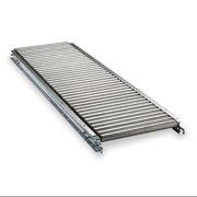 ASHLAND CONVEYOR W11F05EG15B10 Roller Conveyor, Straight, 12 In x 5 ft