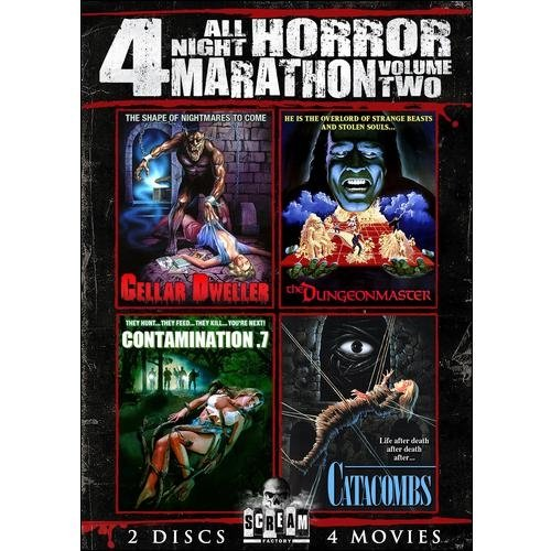 All Night Horror Marathon: 4 Movies, Vol. 2 Cellar Dweller   The Dungeonmaster   Contamination .7   Catacombs by SHOUT FACTORY