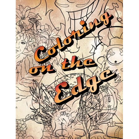 Coloring on the Edge: Adult Coloring Book (Paperback) - Halloween Preview