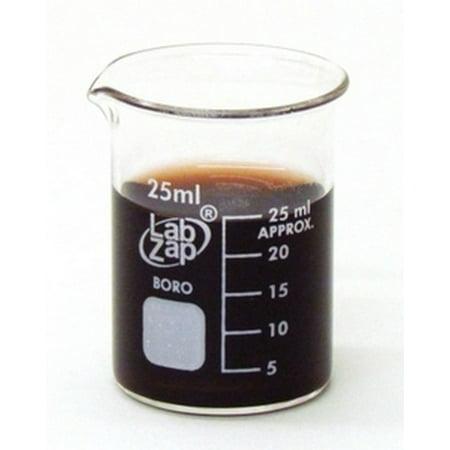 Beaker Borosilicate Glass Graduated Low Form 25ml - EACH Beaker Low Form Glass