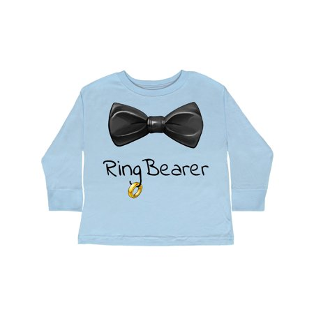 Ring Bearer- black bow tie Toddler Long Sleeve T-Shirt
