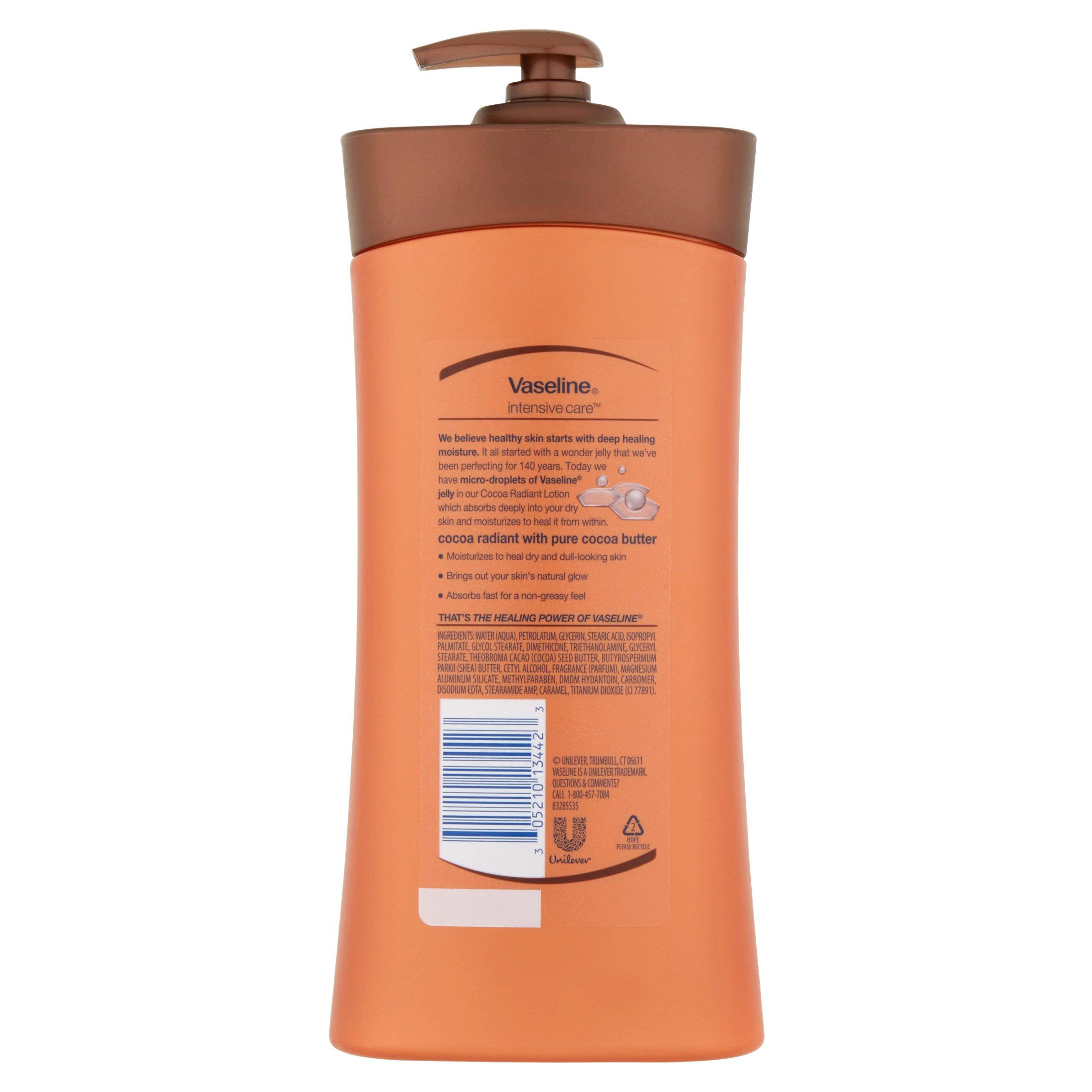 Home 187 schlafen amp bad 187 wellness pur - Vaseline Intensive Care Cocoa Radiant Non Greasy Lotion 20 3 Fl Oz Walmart Com