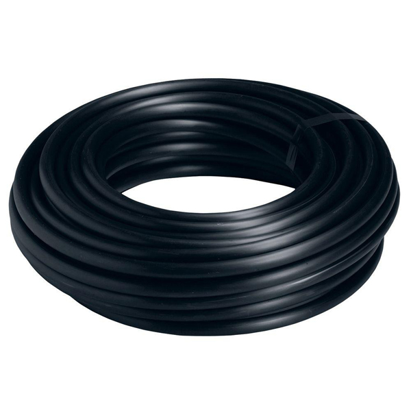 "Soft Black Opaque Weather-Resistant EPDM Rubber Tubing for Water - Inner Diameter 1/32"" - Outer Diameter 1/16"" - 10 ft"