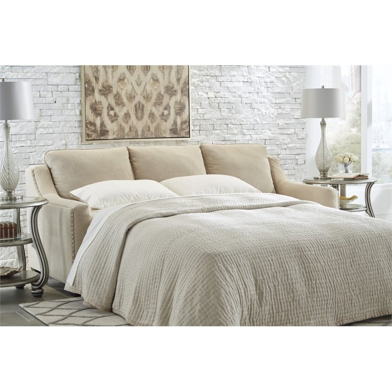 Ashley Mauricio Queen Sleeper Sofa in Linen Walmart