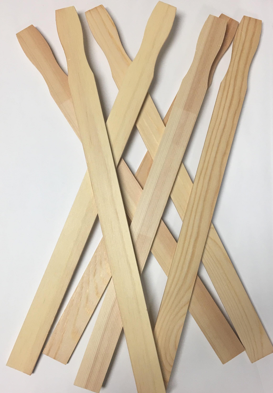 "craft 12/"" new Bundle of 100 STICKS Lowe/'s Wood paint stir sticks"
