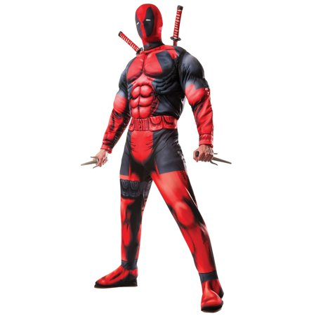 Mens Deluxe Deadpool Costume - Standard One-Size - Mens Funny Costumes