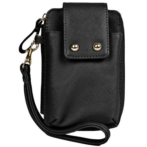 ACI Cell Phone Wallet, Safiano Black