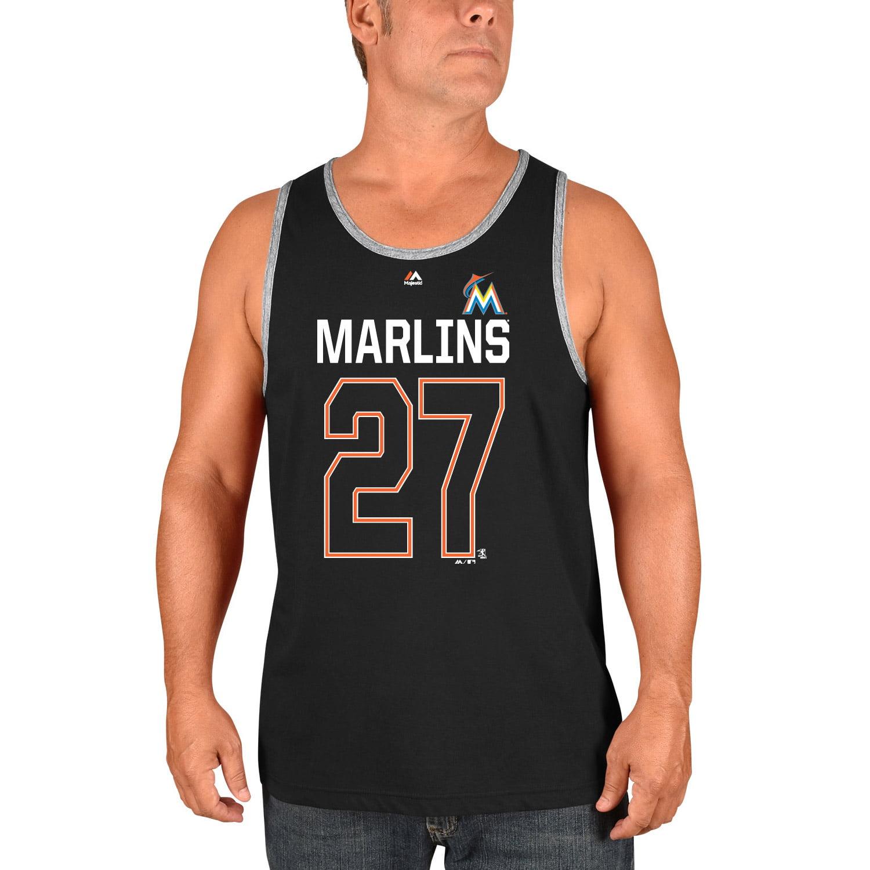 Giancarlo Stanton Miami Marlins Majestic Catch The Dream Tank Top - Black