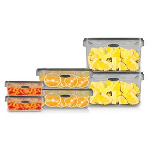 Food Storage 12 Piece Set Rectangular Air Tight Plastic Container Bpa Free Kitchen Canister Walmart Com Walmart Com