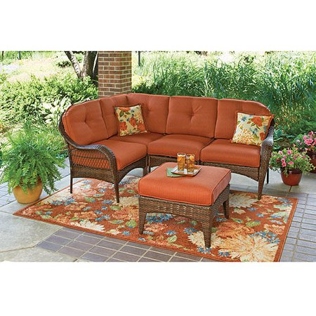 Outdoor Sectional Patio Furniture Ottoman Cushions Durable