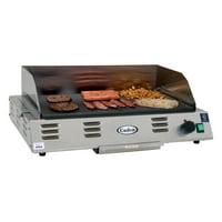 "Cadco CG-20 24-1/2"" Medium-Duty Electric Buffet Countertop Griddle"