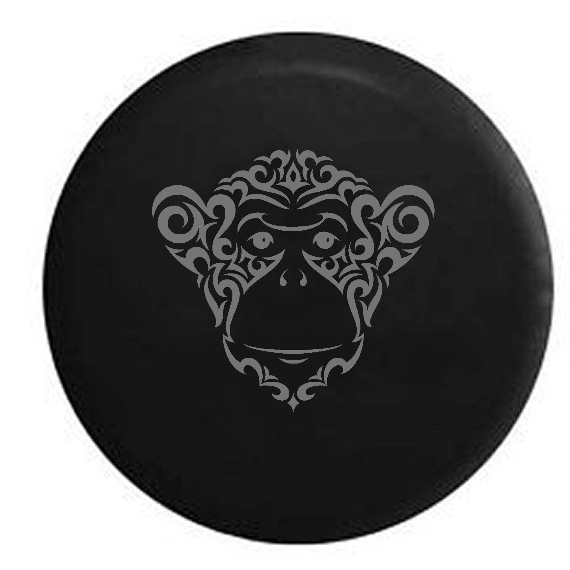Tribal Monkey Chimp Trailer Spare Tire Cover Vinyl Stealt...