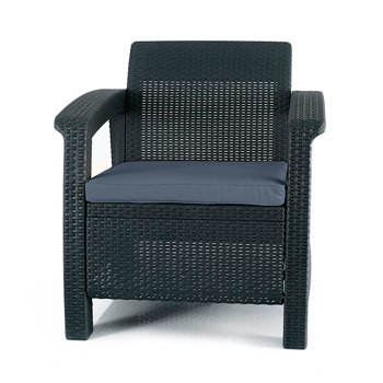 Keter Corfu Resin Armchair with Cushions