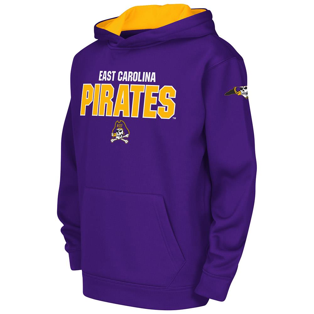 Youth NCAA East Carolina Pirates Poly Pull-over Hoodie