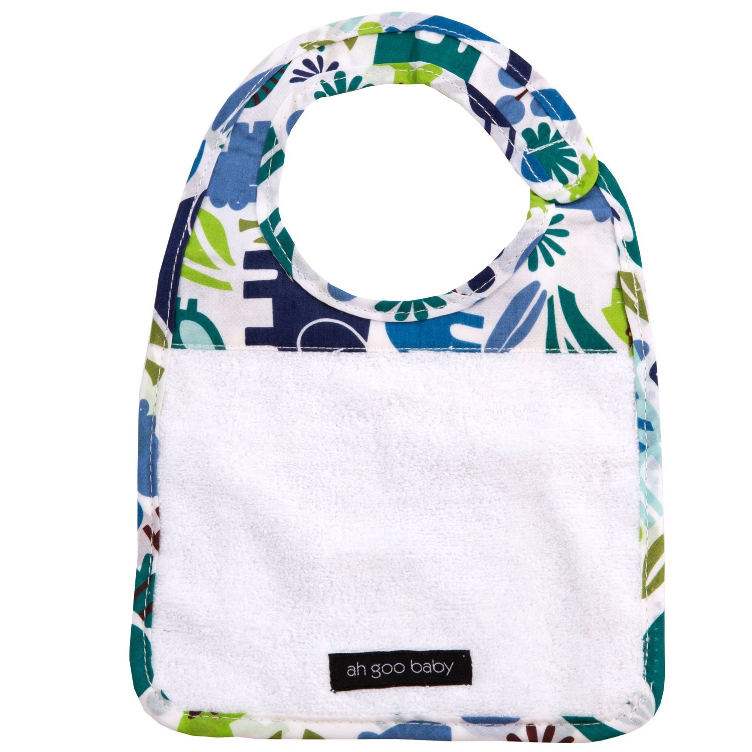 Image of Ah Goo Baby Bib - Zoo Frenzy