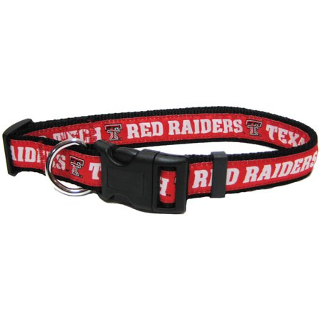 Tech Red Raiders 4 Light - Pets First College Texas Tech Raiders Pet Collar, 3 Sizes Available, Sports Fan Dog Collar