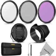 67MM Vivitar UV CPL FLD Filter Kit and Accessory Bundle for Lenses with 67mm Filter Size