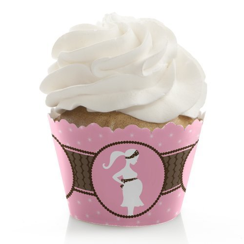 Mommy Silhouette It's a Girl - Baby Shower Cupcake Wrappers (set of 12)