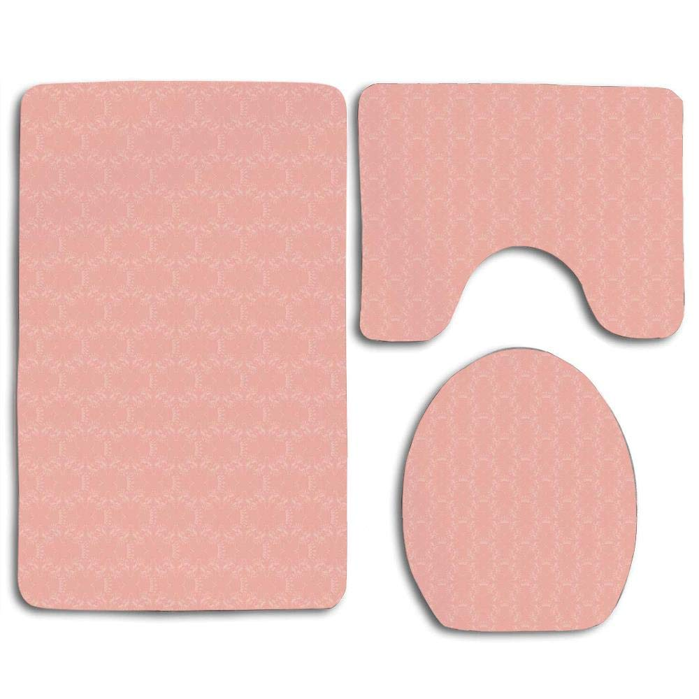 Gohao Peach Soft Colored Background, Peach Bathroom Rugs