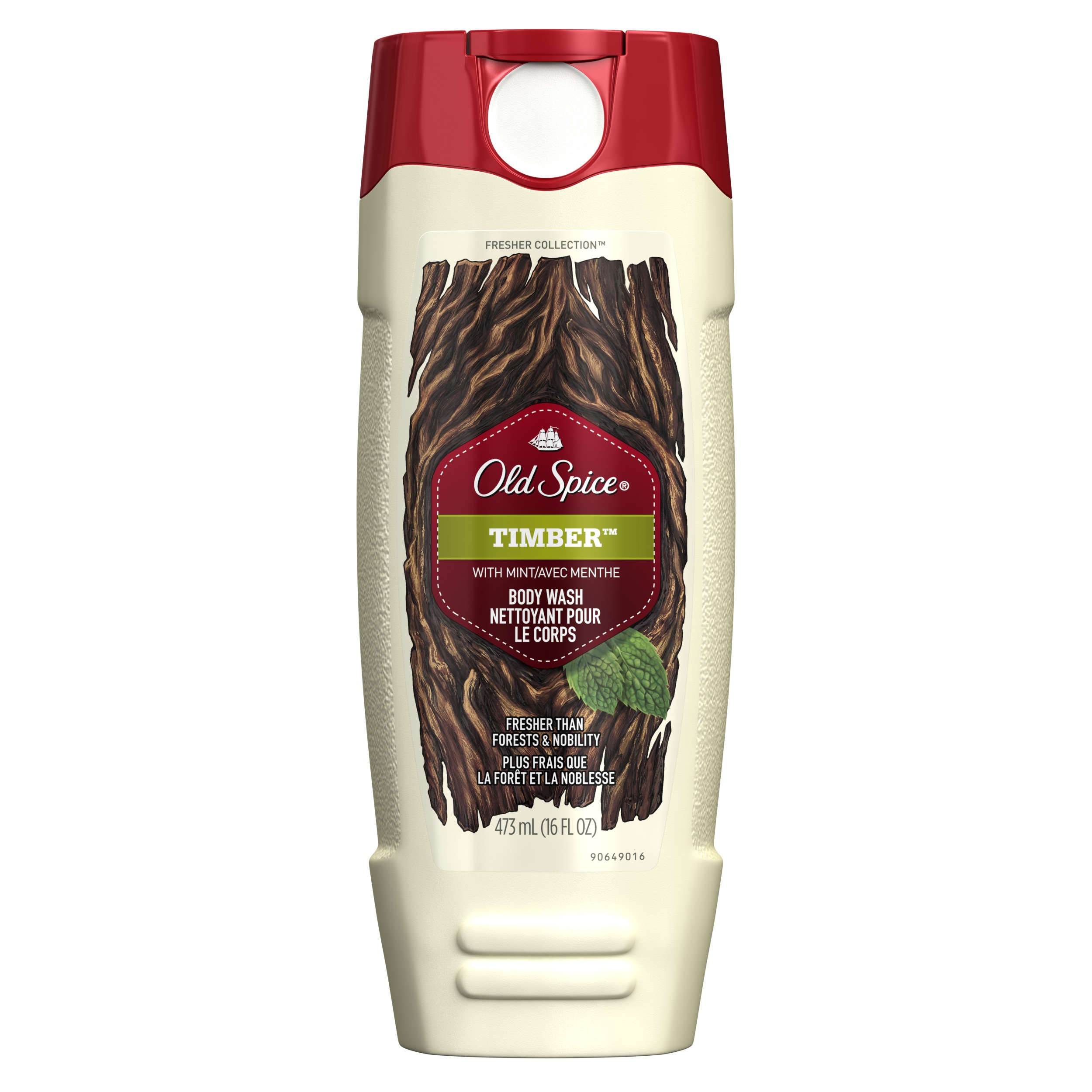 Old Spice Fresher Timber Scent Body Wash for Men, 16 oz