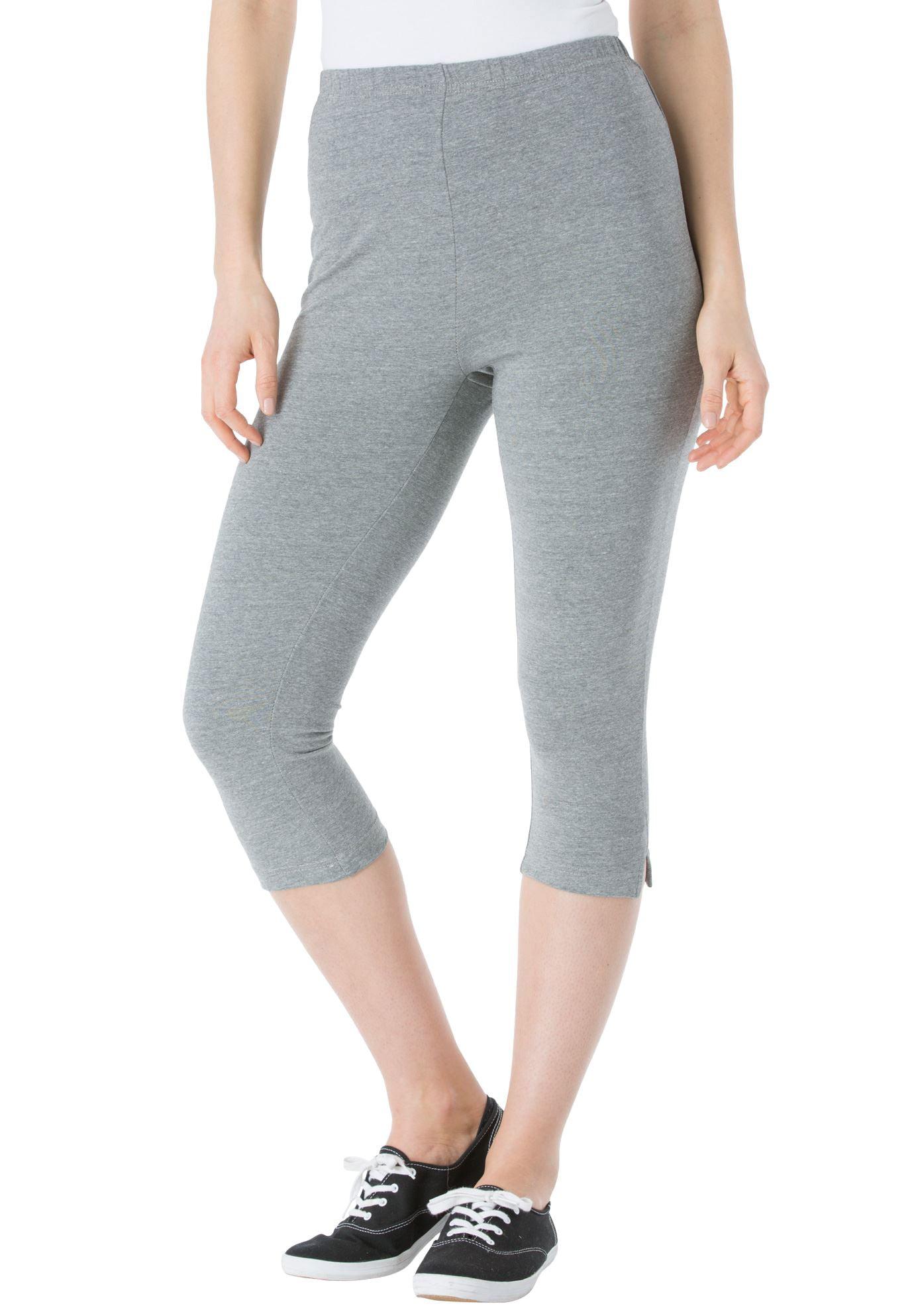 Plus Size Petite Stretch Cotton Capri Legging