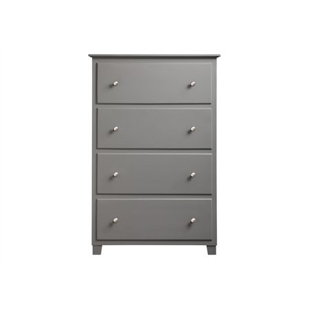 Bowery Hill Solid Wood 4-Drawer Chest in Gray - image 10 of 13