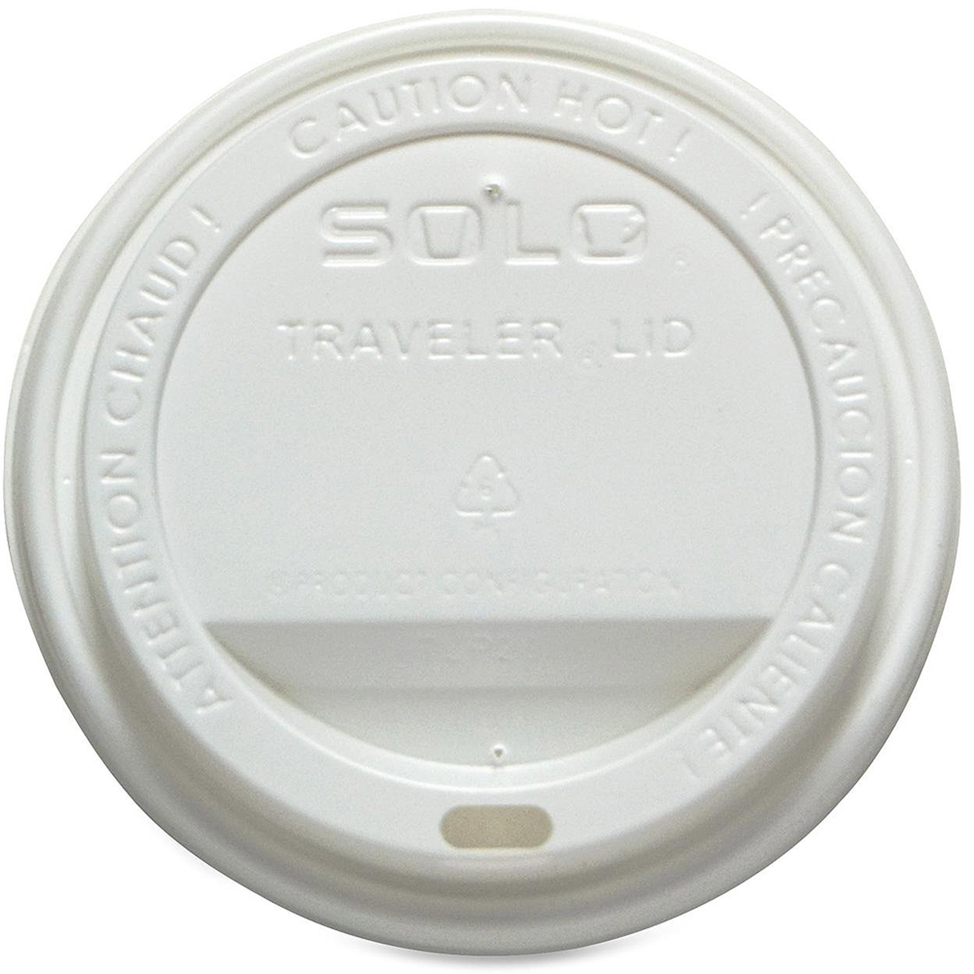 Solo Traveler Dome Hot Cup Lids, 300 count