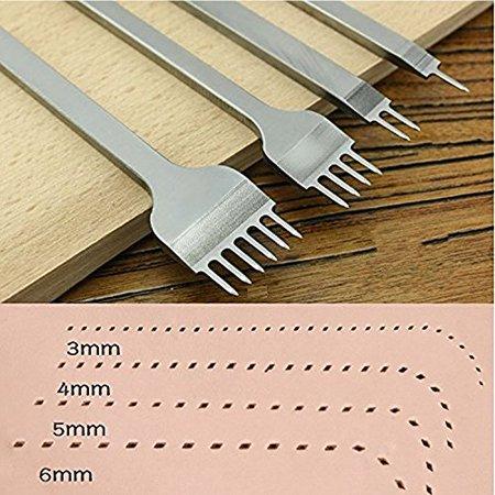 Diamond Point Chisel - Dotop White Steel DIY Diamond Lacing Stitching Chisel Set Leather Craft Kits 4mm 1 2 4 6 Prong