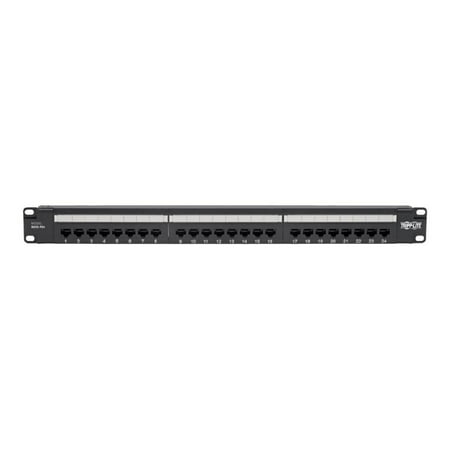 Tripp Lite N252-P24 Cat6 24 Port(s) Network Patch Panel - (Cat6 Black Patch Panel)