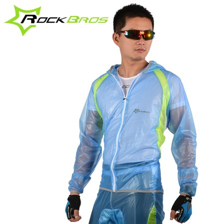 Bicycle Rain Gear - ROCKBROS Breathable Ultra-thin Unisex Bicycle Bike Hiking MTB Raincoat Suit Jacket Outerwear Pants Outdoor Sports Wet Weather Gear