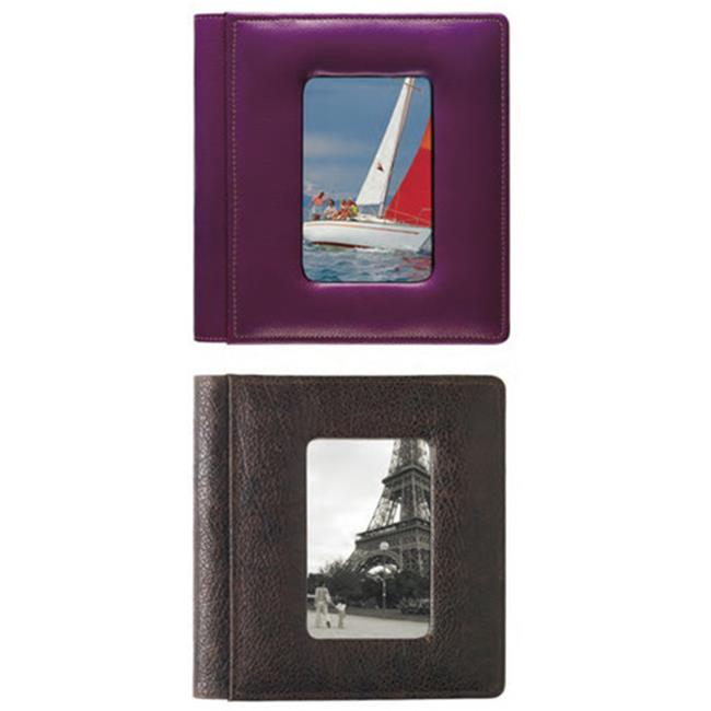 Raika SA 168 BROWN 4 x 6 in. Foldout Framed-Front Photo Album - Brown